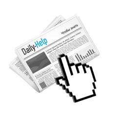 Рекламная кампания для ежедневной онлайн-газеты Daily-Help