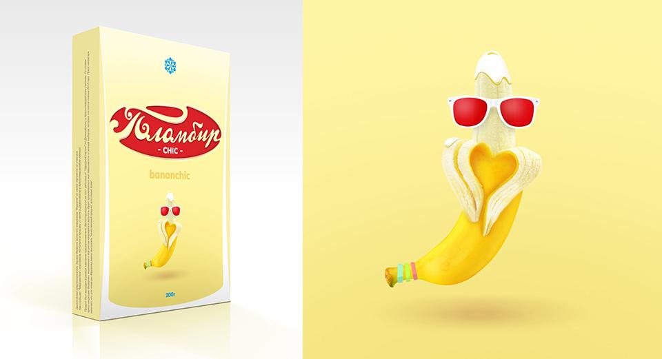 Разработка упаковки Мороженое Бананчик