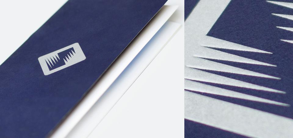 Буклет из дизайнерской бумаги