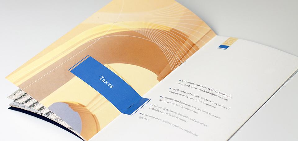 Дизайн буклета на основе фирменного стиля