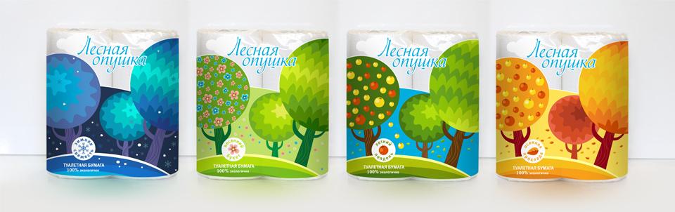 Разработка дизайна упаковки в серии